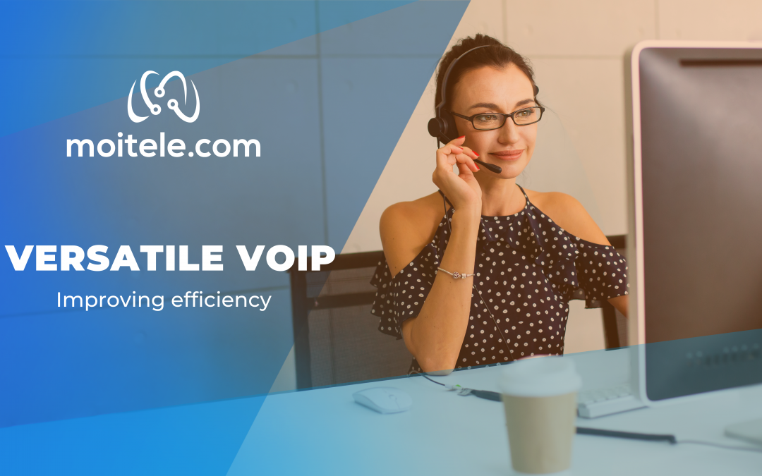 How can VoIP services be versatile to improve efficiency?