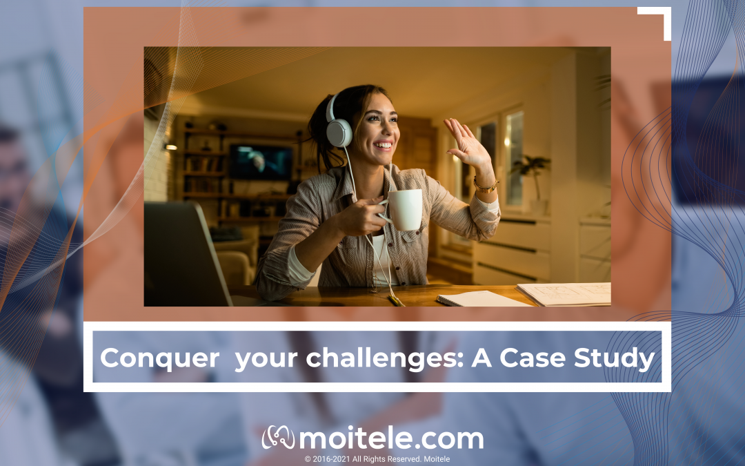 Picture describes the contents of the post: conquering challenges using Moitele cloud communication services